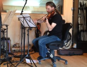 Ben Mathot recording an amazing solo for CILICE ORCHESTRA