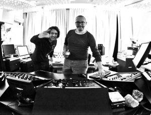 Me and Wim Bult in Inlinemastering studio, mastering CILICE ORCHESTRA album.