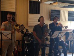 Frans Cornelissen, Remko Smit, Dirk Beets, Gijs Levelt recording session for CILICE ORCHESTRA